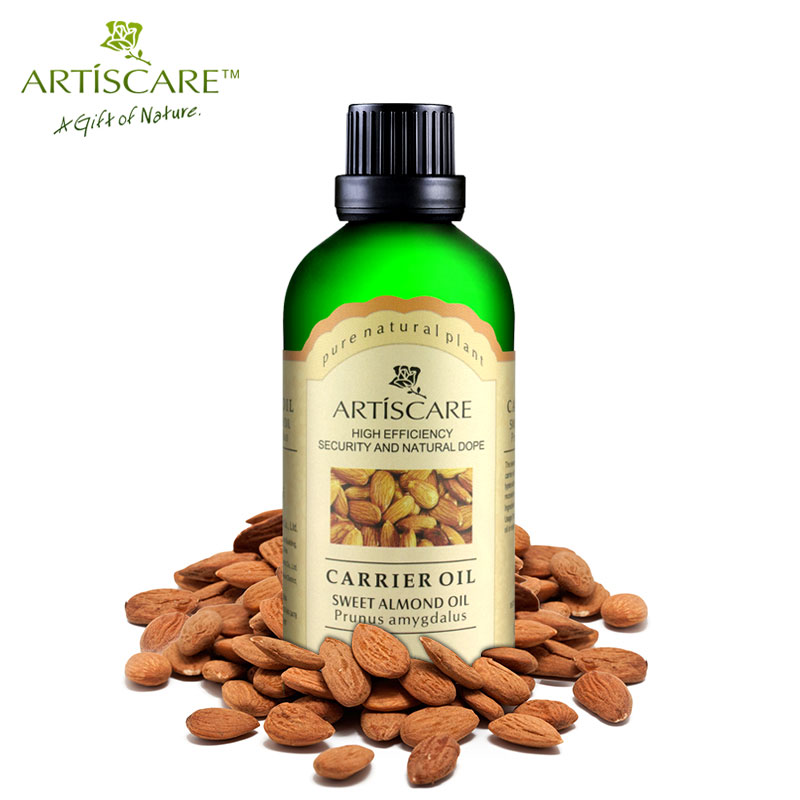 ARTISCARE 100% Naturel Sweet Almond Base Oil 50ml Hydrating and Moisturizing Carrier oil Nourish Face Massage Oil Hair Care Oil