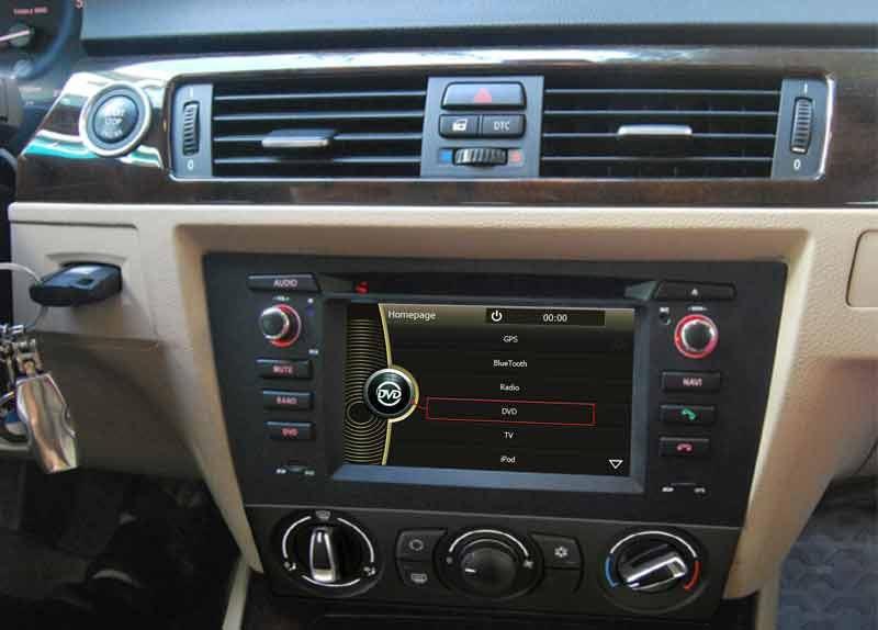 car dvd player gps navigation for bmw 3 series e90 e91 e92 e93 with radio stereo bluetooth tv sd. Black Bedroom Furniture Sets. Home Design Ideas