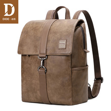 DIDE Anti-theft waterproof 14 inch laptop backpack men PU leather Cover school bags for teenage boy bag travel bag female 789 недорого
