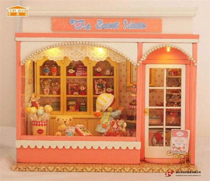 Kit d/'accessoires pour meubles de maison en bois 3D Dolls LED /& Music Box
