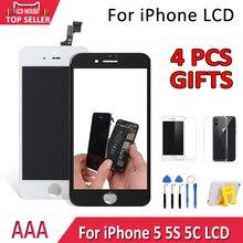 הטוב ביותר AAA תצוגה עבור iPhone 5S 5C 5 LCD מסך מגע Digitizer עצרת החלפת A1453 A1457 לא מת פיקסל ספוט משלוח חינם