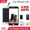 Najlepszy wyświetlacz AAA dla iPhone 5S 5C 5 ekran dotykowy wymiana Digitizer zgromadzenia A1453 A1457 nie martwy piksel Spot darmowa wysyłka