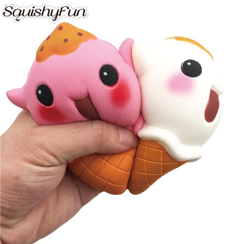 16Pcs/Lot Wholesale Squishies Cartoon Ice Cream Slow Rising Kawaii Squishy Jumbo Squeeze Toys ...