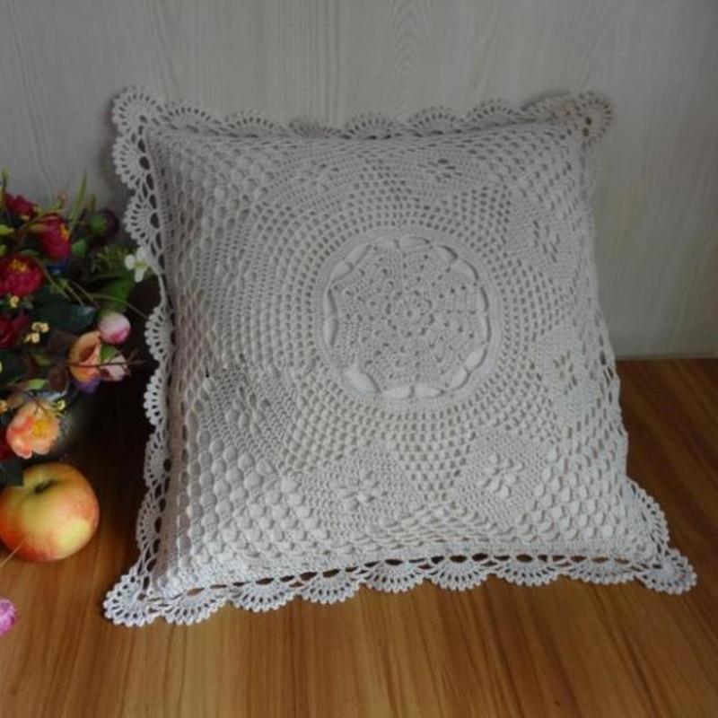 Compre 100 algod o handmade crochet capa for O jardineiro fiel capa