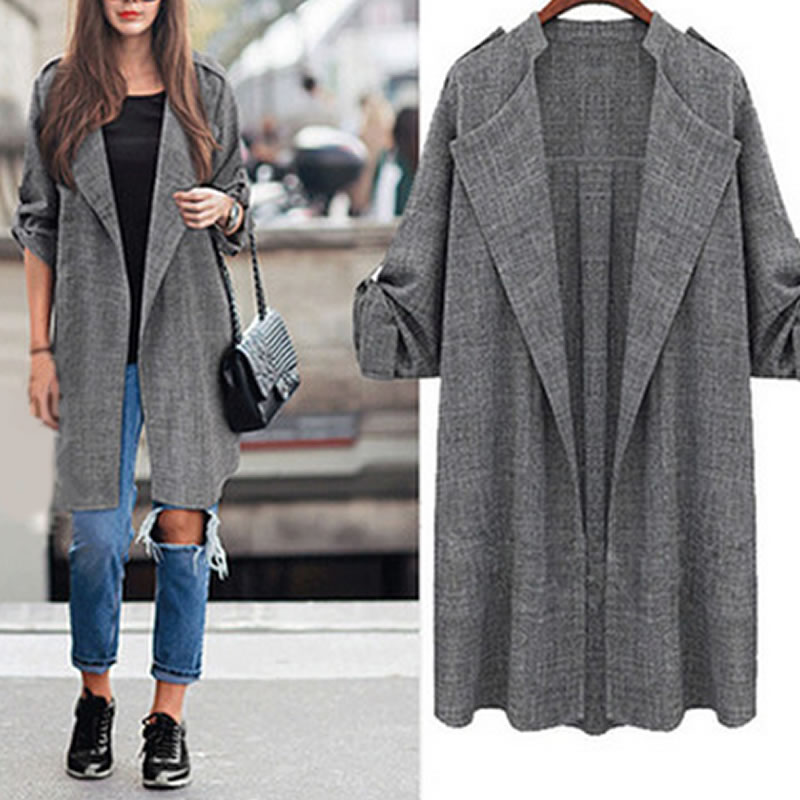 Casaco Feminino 2018 Plus Size Autumn Winter Coat New Fashion Long Coat Jacket Women Slim Type Female Robe Outerwear Manteau