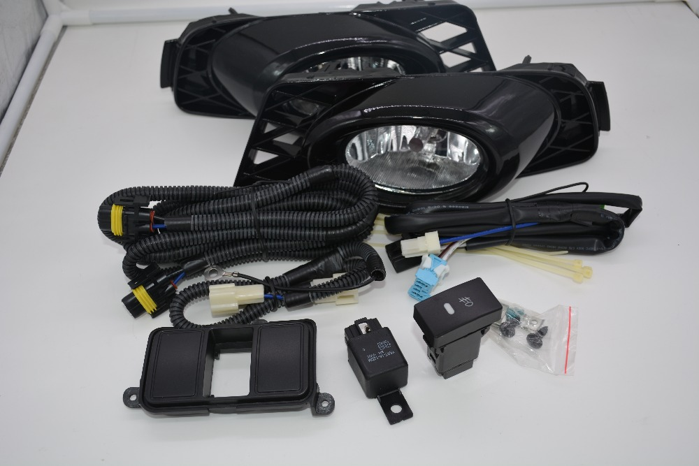 eOsuns halogen fog lamp with wires harness relay, switch, fog lamp house and frame cover complete kit for honda civic 2009-2011 eosuns halogen fog lamp for honda city 2014 with fog lamp bulb wire harness fog lamp cover and switch
