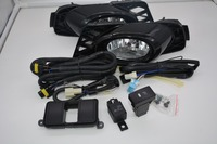 eOsuns halogen fog lamp with wires harness relay, switch, fog lamp house and frame cover complete kit for honda civic 2009 2011