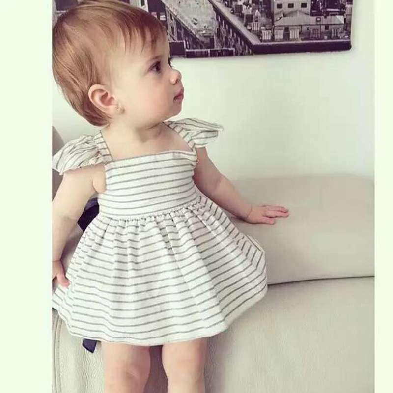 New-2017-Summer-Baby-Girls-Clothing-Sets-Fashion-Big-Bowknot-Striped-Dresses-Shorts-2pcslot-Girls-Clothes-Brand-Kids-Suits-2