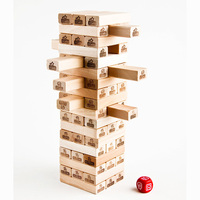 54 PCS/Set Mora Jenga Puzzle Board Game Family/Party Best Gift for Children High Quality Building Blocks Game