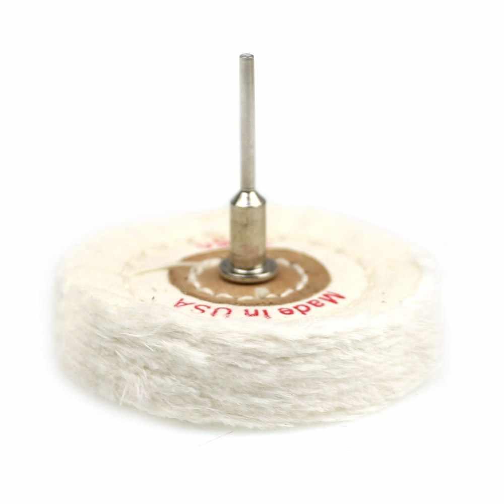 1 шт. 3 мм вал установлен лоскут хлопковая ткань полировка колеса для ювелирных изделий металлическое зеркало полировка мини ДРЕЛЬ Dremel вращающиеся инструменты