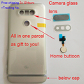 Оригинальный Новый Назад Крышку Корпуса Батареи Дверь Для LG G5 H850 H840 + ниже крышки + Home button + Камера Стеклянный Объектив в наличии!