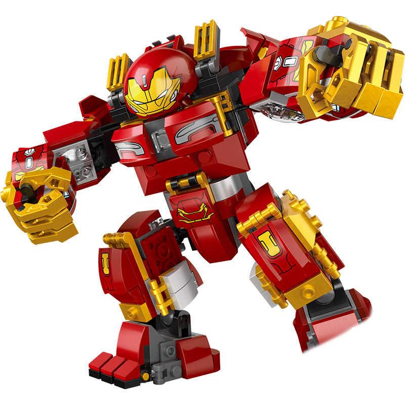 Marvel Infinity War строительные блоки Legoingly мстители Супер Герои халкбастер Ultron Железный человек издание Кирпичи игрушки для детей