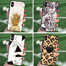 Leopard marble For iPhone X XR XS Max 5 5S SE 6 6S 7 8 Plus Oneplus 5T Pro 6T phone Case Cover Funda Coque Etui funda capinha