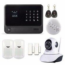 433 Mhz Teclado Táctil de Control de la Protección del Hogar WIFI APP GSM GPRS Sistema de Alarma de Seguridad con Cámara