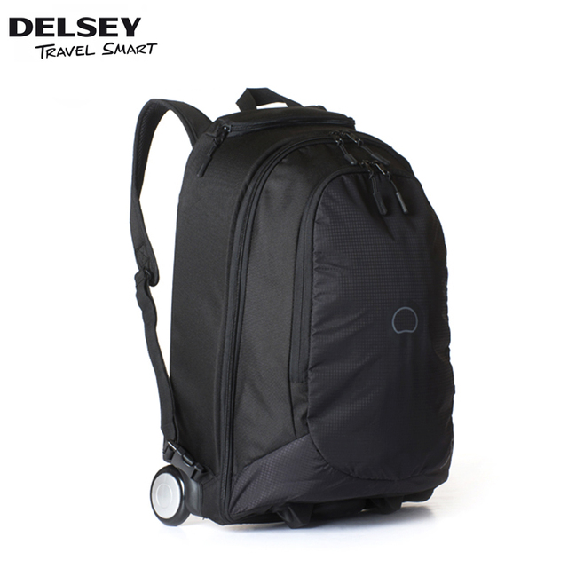 Delsey Trolley Bag Boarding Mountaineering Backpack School Business Casual