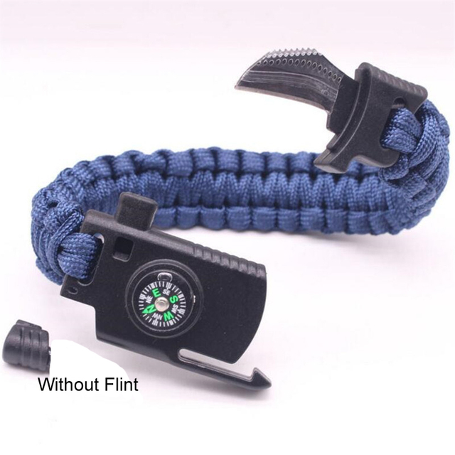 Плетеный браслет для мужчин и женщин многофункциональный Паракорд