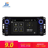 JDASTON Android 9,0 Автомобильный мультимедийный DVD радио плеер для Dodge Chrysler Sebring Jeep Compass Commander Grand Cherokee Wrangler