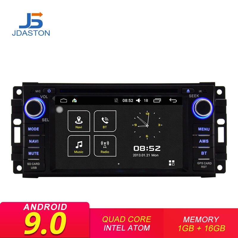 JDASTON Android 9.0 Multimídia Carro DVD Player de Rádio Para Jeep Compass Wrangler Comandante Grand Cherokee Rodeio Chrysler Sebring