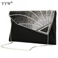Rhinestone Clutch Purse Envelop-Bag Flap Crossbody-Bag Evening-Party-Clutches Female