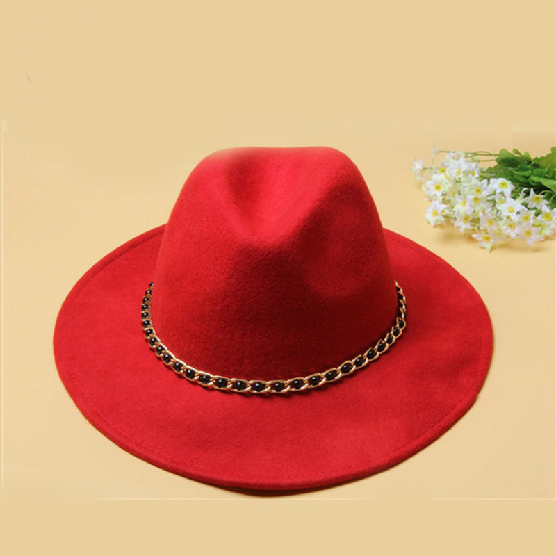 9b8b0853feb59 New dome Rolled Pure Wool Large Rims Side Winter women fedora hat Fashion  Stetson Hats Fedora-in Women s Fedoras from Apparel Accessories on  Aliexpress.com ...