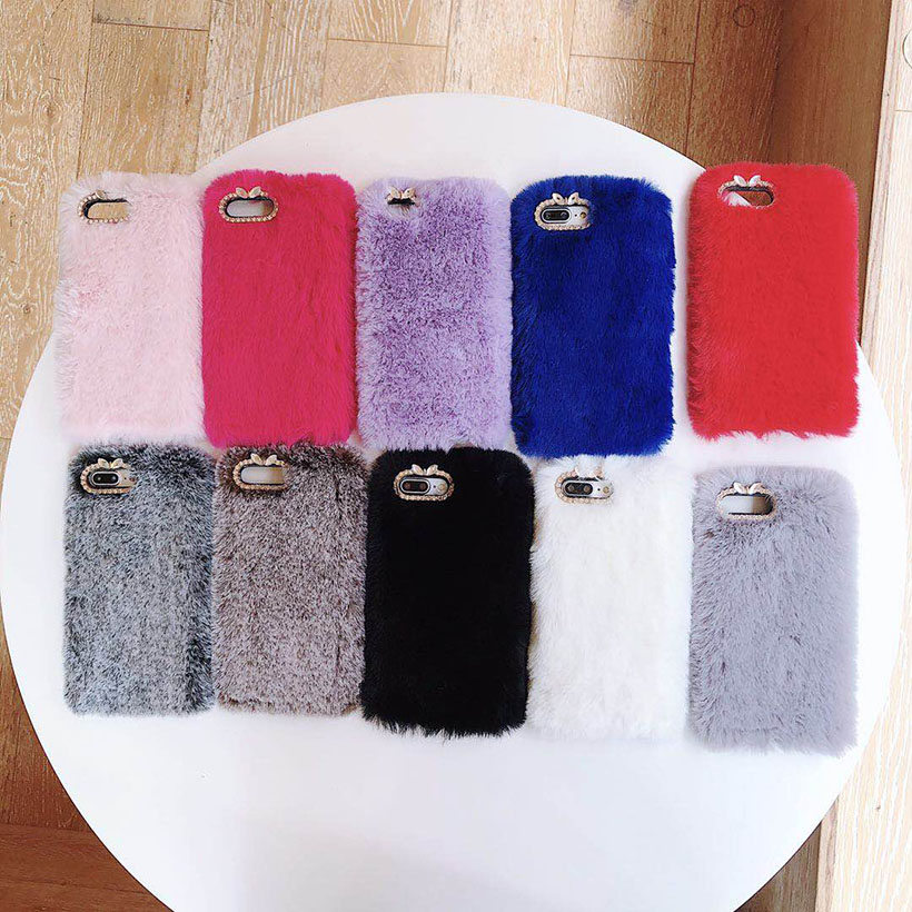 Warm Fur <font><b>Cases</b></font> For <font><b>Vivo</b></font> X9 <font><b>X9S</b></font> X20 X21 UD X21i V5 V7 Plus Y73 Y75S Y83 Y66 Y67 Y69 Y71 Y85 V9 Z1 Y75 Y79 Silicone Rabbit Covers image