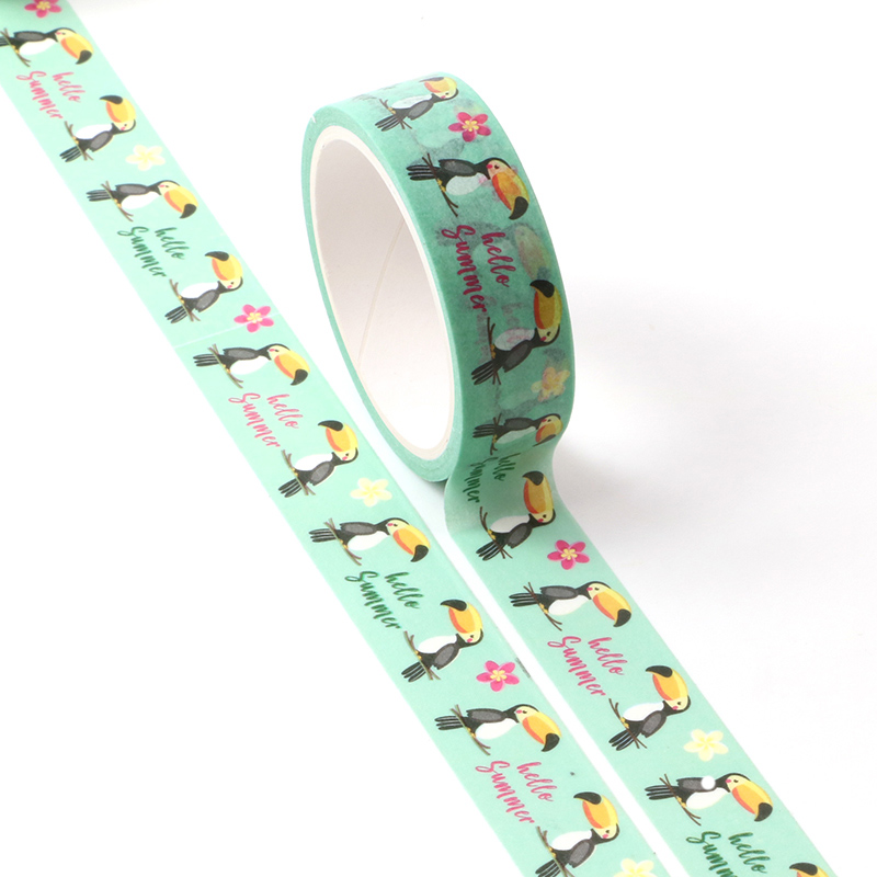 1PCS New Decor Cute Washi Tape Animal Set Dog Cat Pig Fox Sloth Woodpecker DIY Planner Masking Tapes School Office Supply