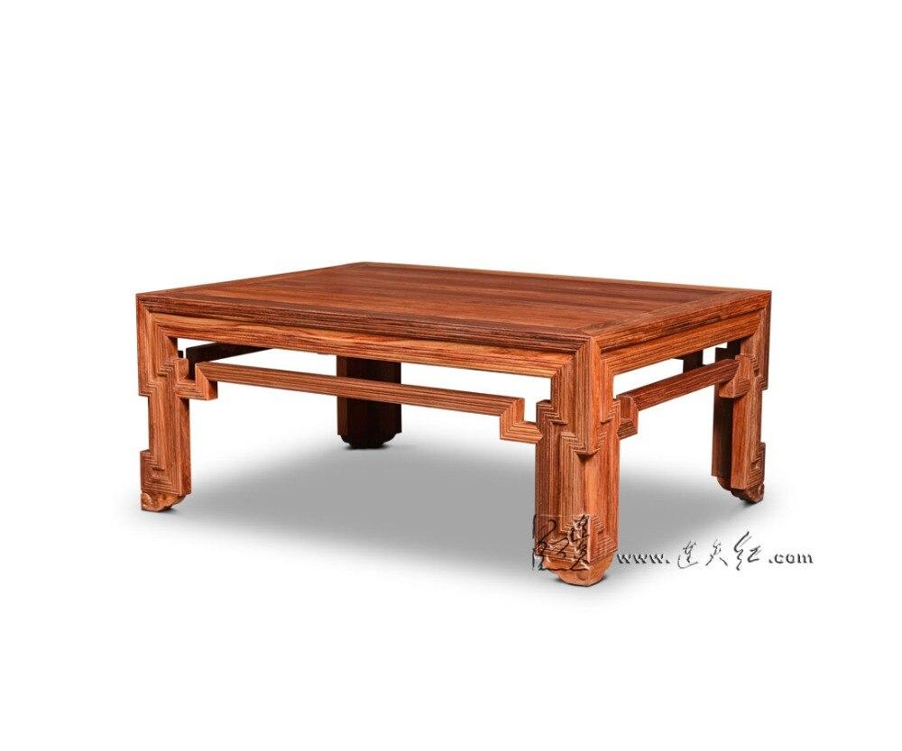 Palissandre Rectangle Tables basses salon salle bois massif bureau café grand bureau 1.3*1 m nouveau classique sculpture meubles de maison séquoia