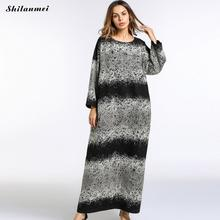 Punk Women Oversized Autumn and Winter Dress pregnancy loose Gothic printed Vestido long maxi party dress