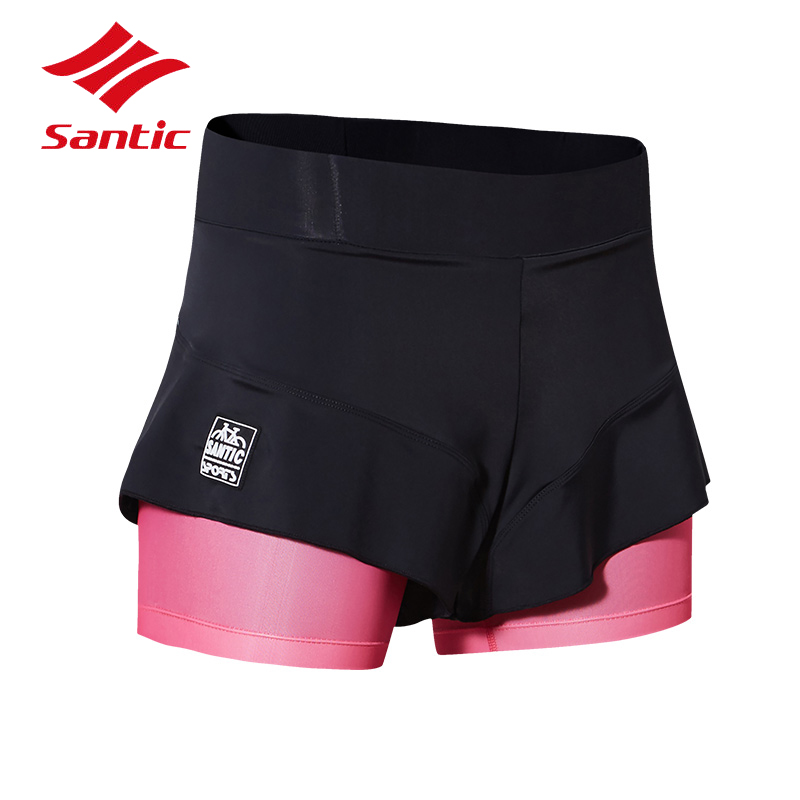 Santic Women Cycling Shorts 2018 MTB Mountain Road Pro Gel Padded Bike Shorts Female Outdoor Sport Quick Dry Bicycle Shorts S-XL