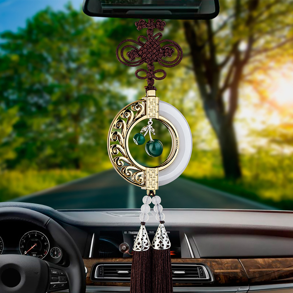 Car Pendant White Jade Rearview Mirror Decoration High Grade Automobile Interior Suspension Hanging Ornaments Chinese Style Gift lg lg ga b489tgbm