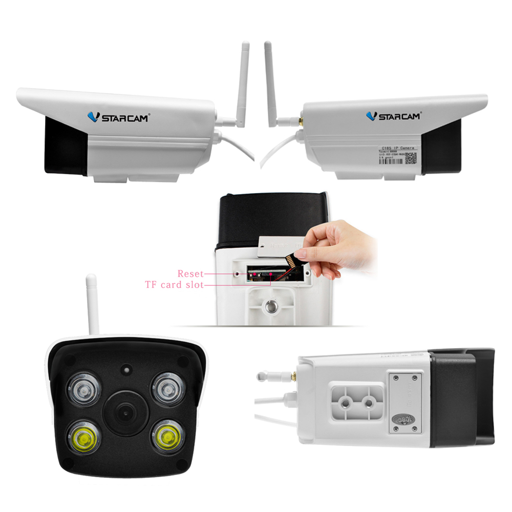 Étanche Vstarcam C18S 1080 P Extérieure Wifi Caméra CCTV Couleur vision nocturne caméra de sécurité Infrarouge Bulllet Caméra