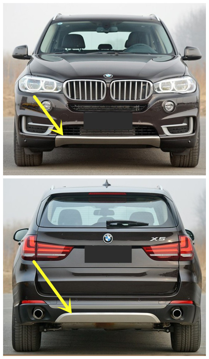 For BMW X5 F15 2014.2015.2016 BUMPER GUARD ( Front+Rear ) ISO9001 High Quality BUMPER Plate