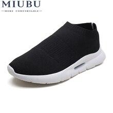 MIUBU Fashion Mesh Men Flats Shoes High Quality Breathable Slip on Summer Autumn Casual