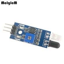 MCIGICM 200pcs 스마트 자동차 로봇 반사 광전 3pin IR 적외선 장애물 회피 센서 모듈 arduino Diy 키트