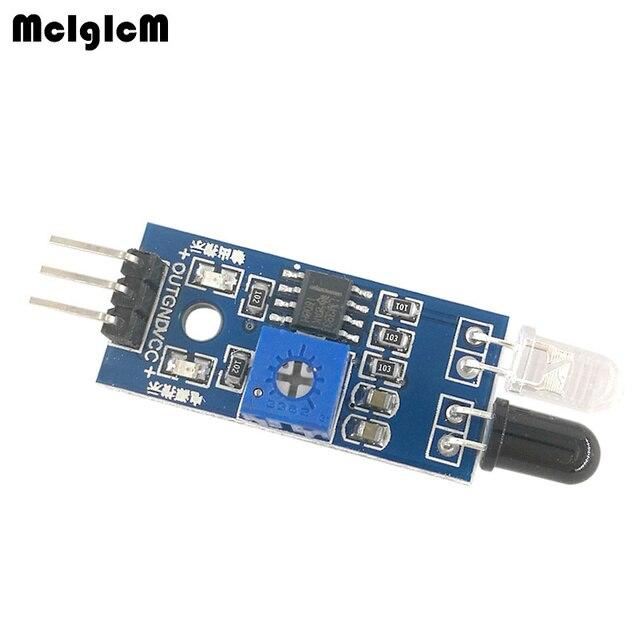 MCIGICM 200pcs Smart Car Robot Reflective Photoelectric 3pin IR Infrared Obstacle Avoidance Sensor Module for arduino Diy Kit