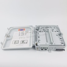 20PCS/Carton of 12 port FTTH Fiber Optic Termination Box 1X12 Core Outdoor Fiber Optical Splitter or Drop Cable Distribution Box