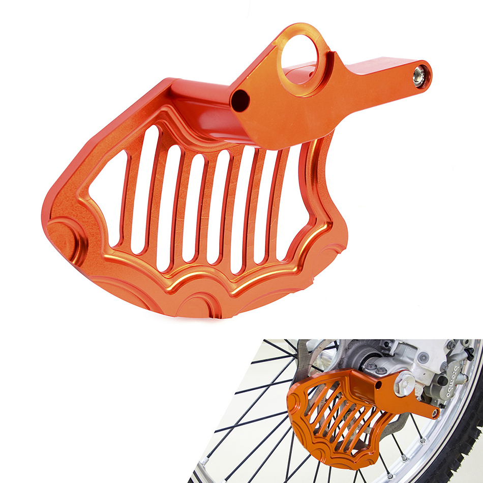 NICECNC Front Brake Disc Rotor Guard For KTM 125 150 200 250 300 350 400 450 500 SX SXF EXC EXCF XC XCF XCW XCFW 2016 2017 2018 right left sides wp fork leg shoe guard protector cover for ktm 125 200 250 300 350 400 450 500 exc sx sxf xc xcf excf excw xcfw