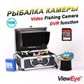 """ViewEye Original 7 """"1000TVL Vídeo Fish Finder Underwater Camera Kit Pesca Com Função de Gravação de Vídeo Branco/Infravermelho IR DIODO EMISSOR de luz"""