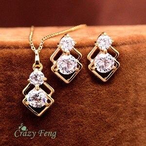 Trendy CZ Jewelry Sets 3pcs Go