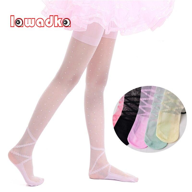 Lawadka Children Girls Ballet Dance Tights Dot Kids Tights For Baby Children Pantyhose Stocking