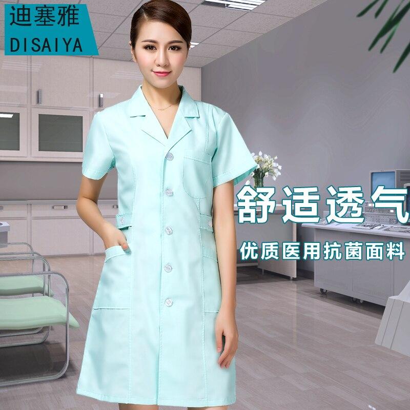 Summer short sleeve OEM uniformes hospital nursing scrubs medical lab coat doctor nurse overalls medical women work cloth Outfit