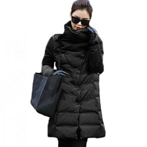 new 2018 Winter   Coats   Women Jackets Large Thick Cotton Padded Lining Ladies   Down     coat