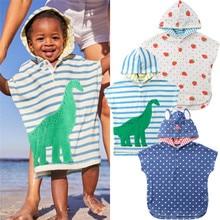 Г. Детское банное полотенце с мультяшным принтом, пончо, детский банный халат, банный халат быстросохнущее Впитывающее пляжное полотенце для путешествий