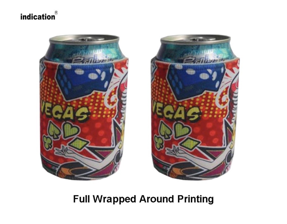 Customized Design printed Stubby Holder Ice Cooler Insulated Can Cooler For Food Wine Beer Neoprene Drink Sleeve Cooler Bag