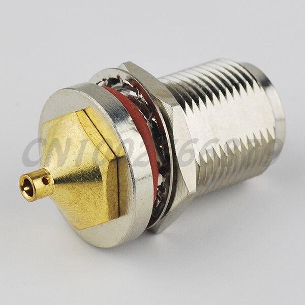Rf electrical wire terminal connector n female bulkhead o