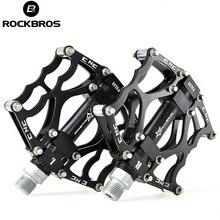 ROCKBROS Mountain Bike Pedals MTB Road Cycling Aluminum Alloy Bearing Pedals Ultralight