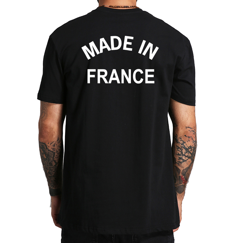 made in france tee shirt men leisure casual tshirt short sleeved cool t shirt gift creative eu. Black Bedroom Furniture Sets. Home Design Ideas
