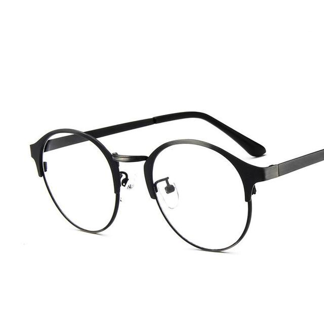b7fd96e47557 2017 Eyeglasses Frames Men Fashionable Glasses Frame Brand Round Stainless  Steel Glass Frames Women Eyewear Vintage Glasses Men