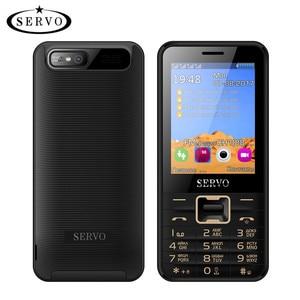 Image 1 - Quad Band para teléfono móvil Quad Sim, teléfono con 4 tarjetas SIM de 2,8 pulgadas, teléfono con 4 standby, linterna Bluetooth, MP3, MP4, GPRS, teclado en ruso
