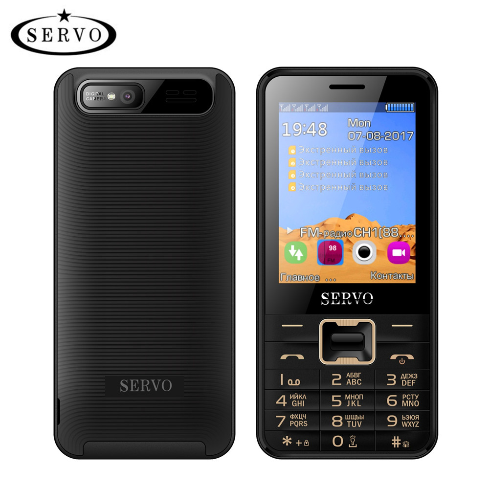 Quad Sim Mobiele Telefoon Quad Band 2.8 Inch 4 Sim-kaarten 4 Standby Telefoon Bluetooth Zaklamp MP3 MP4 GPRS Russische Taal Toetsenbord